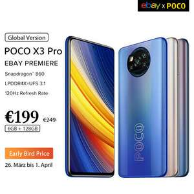 POCO X3 Pro 6/128GB Global Version für 199€ / 8/256GB 249€