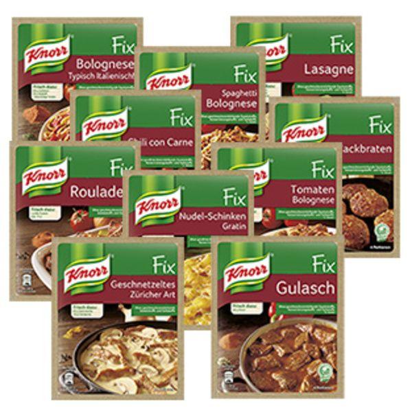 [Rewe] 10x Knorr Fix für effektiv 1,40€ dank Cashback (3x möglich)