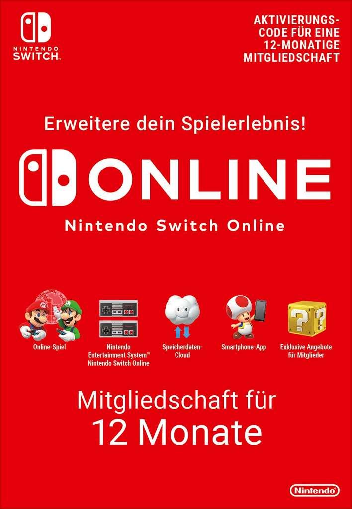 Nintendo Switch Online – Mitgliedschaft für 12 Monate (365 Tage)