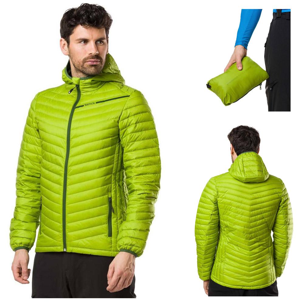Vertical - leichte Daunen Hybridjacken für Damen und Herren zum Verstauen
