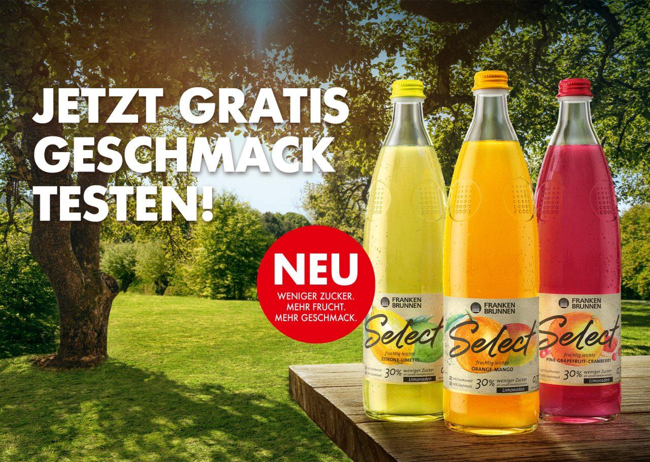 [GzG] Lokal - Franken Brunnen Select bis zu 3 Flaschen (à 0,75 L Glas) Gratis Testen