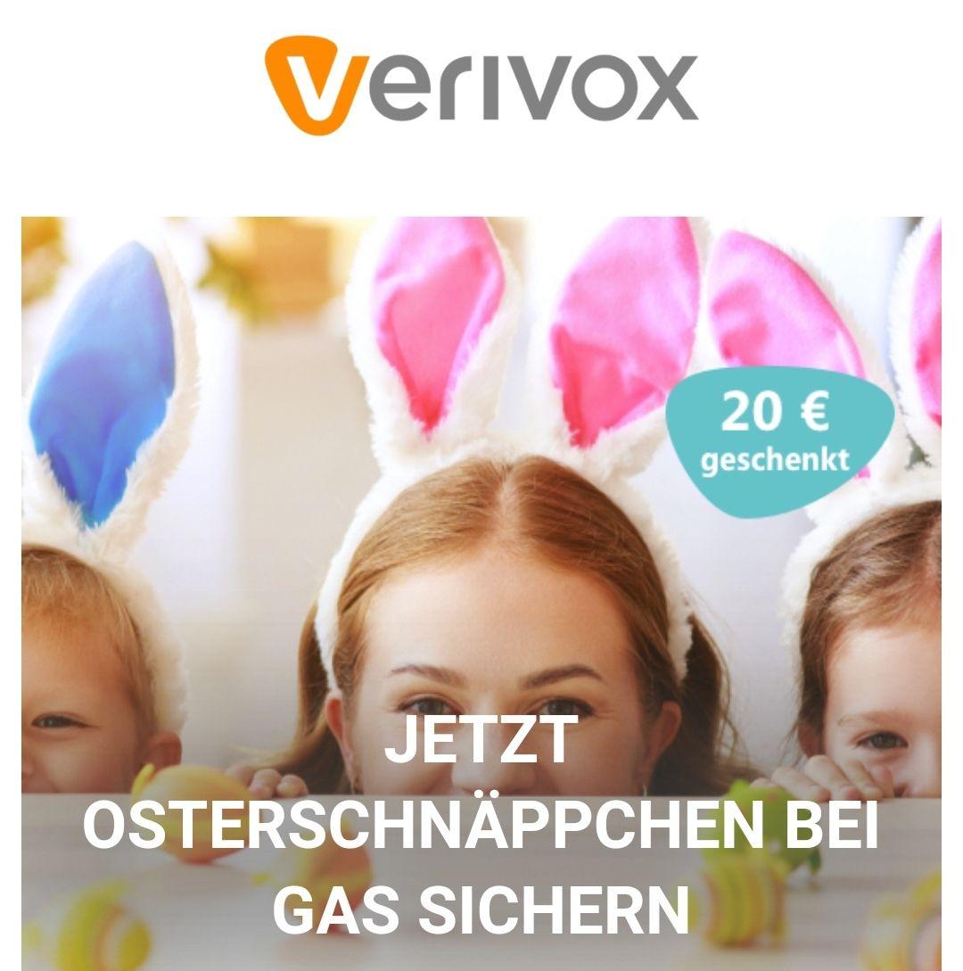 Verivox 20 € Osterbonus für Strom- oder Gaswechsel
