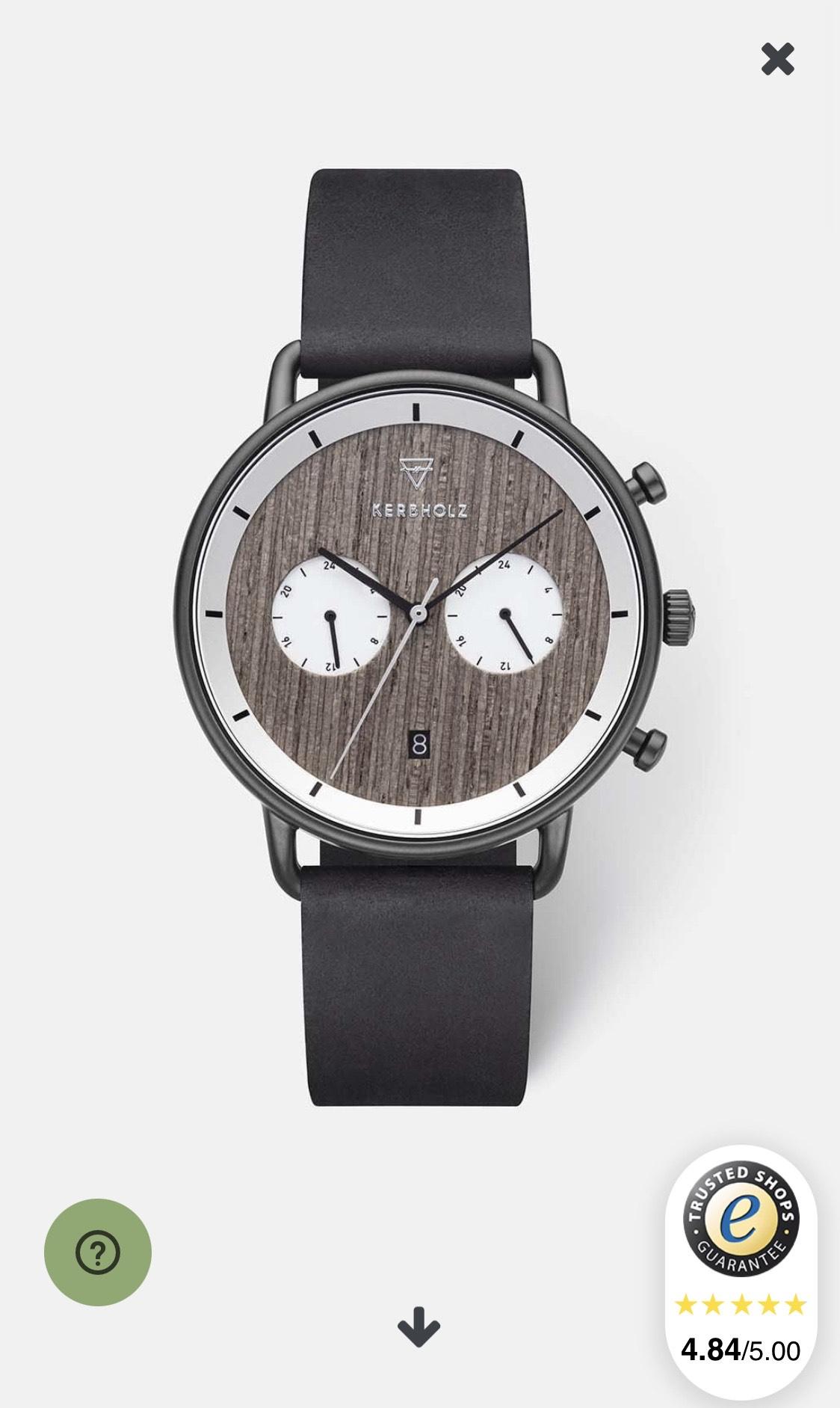 Verschiedene Kerbholz Uhren / B-Ware