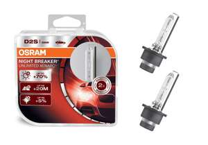 [Amazon UK] Osram Xenarc Night Breaker Unlimited D2S Xenonbrenner 66240XNB-HCB, 35W, 2er Pack (Duo Box) Import