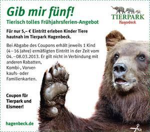 Hagenbeck Eintritt 5€ statt 15€ für Kinder bis 08.03.2013 (Lokal Hamburg)