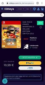 ONE PIECE PIRATE WARRIORS 3 - DELUXE EDITION SWITCH (EU) -84%