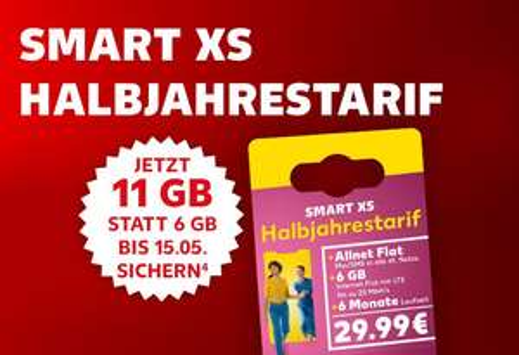 Kaufland Mobil Halbjahrestarif mit 11GB statt 6GB Datenvolumen