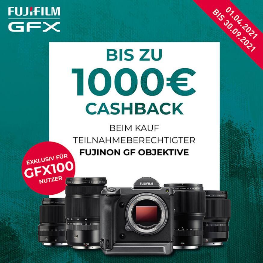 Fujifilm Cashback-Aktion: Fujinon GF Objektiv für GFX100 Nutzer (300€/500€/1000€)