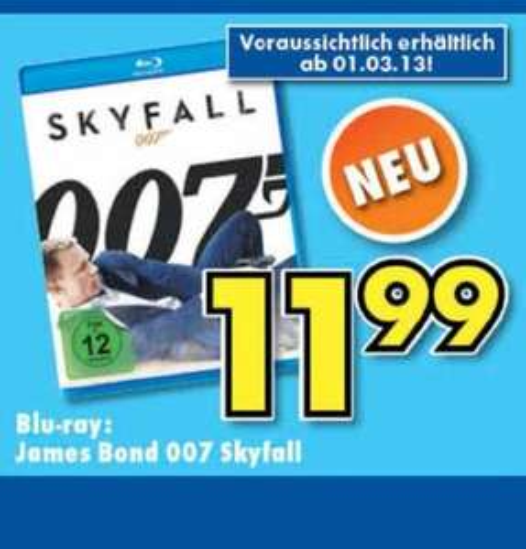 (lokal) James Bond Skyfall Bluray für 11,99 (Preisvergleich 12,90 bei Amazon)