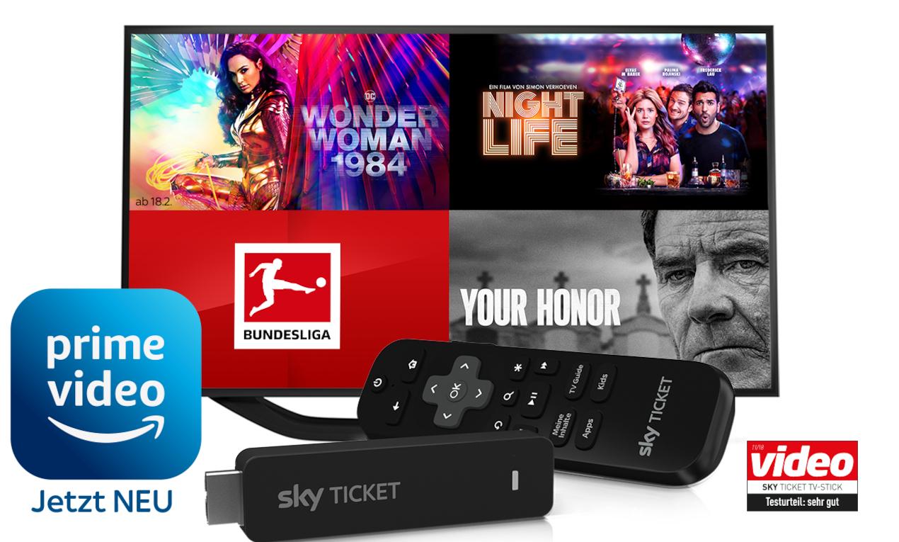 Sky Ticket: 1 Monat Filme + Serien inklusive Gratis Sky Ticket TV Stick [Neukunden*] | Shoop: 4€ Cashback -> effektiv 6,99€