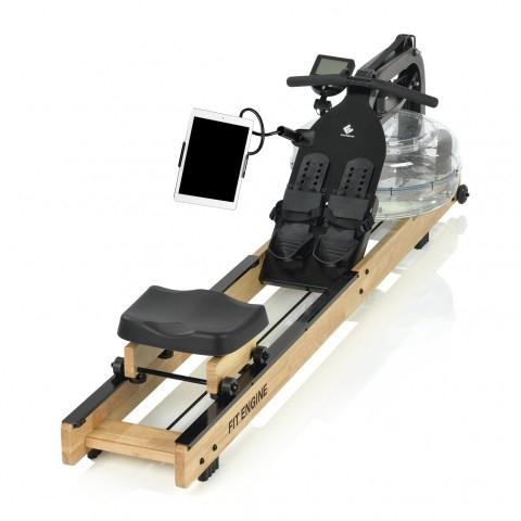 Fitengine Rudergerät aus Holz mit Wasserwiderstand