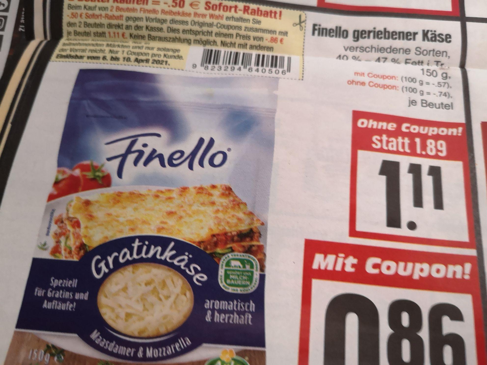 EDEKA Hessenring Finello geriebener Käse 150 gr, verschiedene Sorten