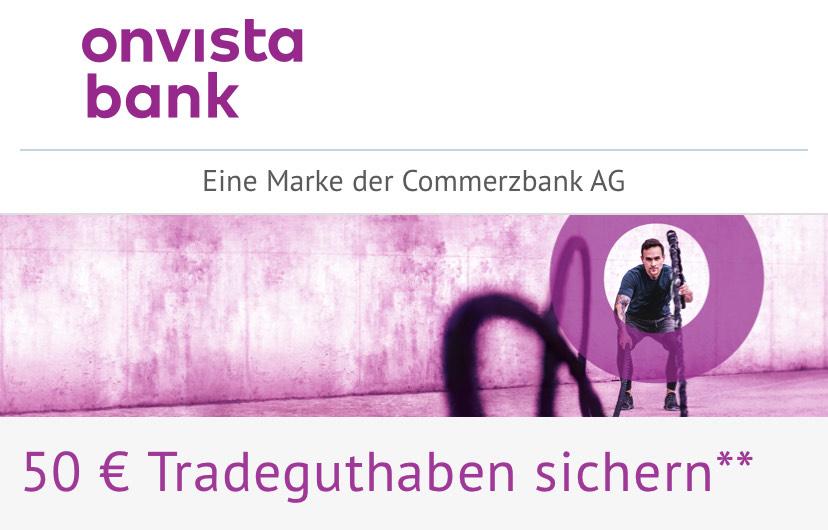 [onvista] 50 € Tradeguthaben zur Depoteröffnung