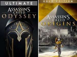 Assassin's Creed Odyssey Ultimate - 11,14€ & Assassin's Creed Origins Gold - 8,91€ on Xbox One & Series X|S (Microsoft Store Brasil)
