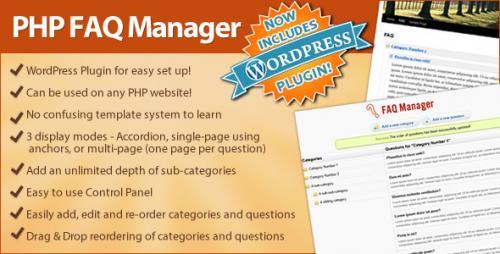 FAQ Manager Wordpress Plugin (Standalone or integrate to Wordpress)