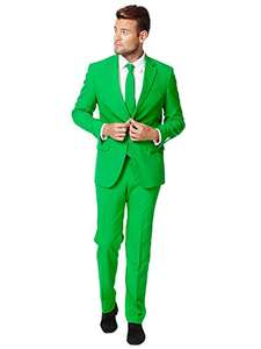 Amazon Prime - stylischer Partyanzug in grün, Gr. 46 und andere