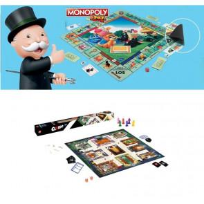Gesellschaftsspiel/Kinderspiel/Spielematte-Hasbro Monopoly Junior & Cluedo Junior Spielematten für Kinder (Ab 5J für 2-6 Spieler)