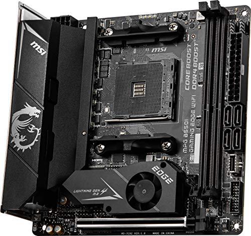 MSI MPG B550i Gaming Edge WiFi AMD AM4 DDR4 M.2 WLAN 6 HDMI Mini-ITX Gaming Motherboard AMD Ryzen™ 5000 Prozessoren