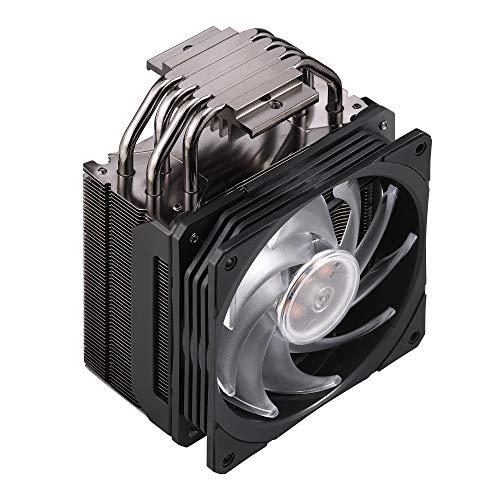 Cooler Master Hyper 212 RGB CPU Kühler schwarz - 4 Heatpipes mit Lamellen, SF120R RGB-Lüfter