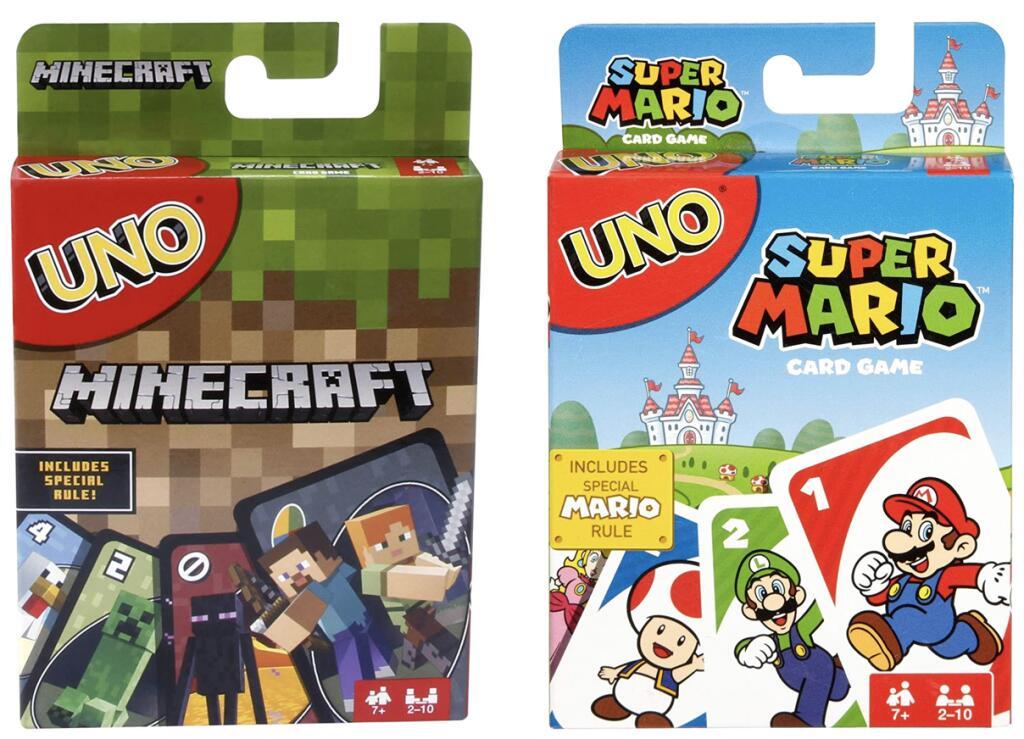 Uno Minecraft für 5,47 o. UNO Super Mario für 7,82€ [Amazon Prime]
