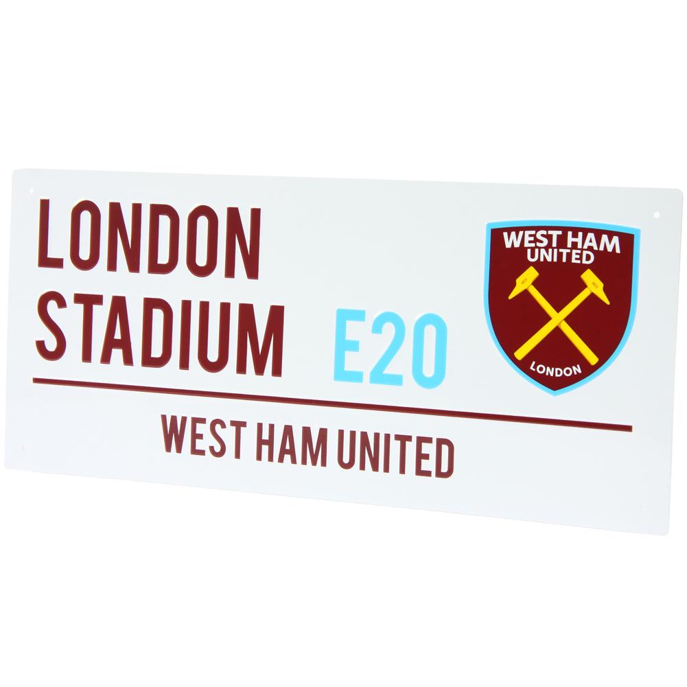 West Ham United FC Fan Street Sign Straßenschild für 3,33€ + 3,95€ VSK (40 x 18 cm) [SportSpar]