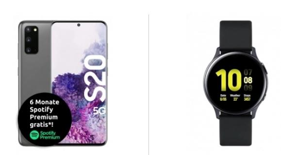 Samsung Galaxy S20 5G Grau + Watch Active 2 im Telekom Congstar (8GB LTE 50Mbit, VoLTE) mtl. 22€ einm. 203,99€ | Wechsel in den S = 506,99€