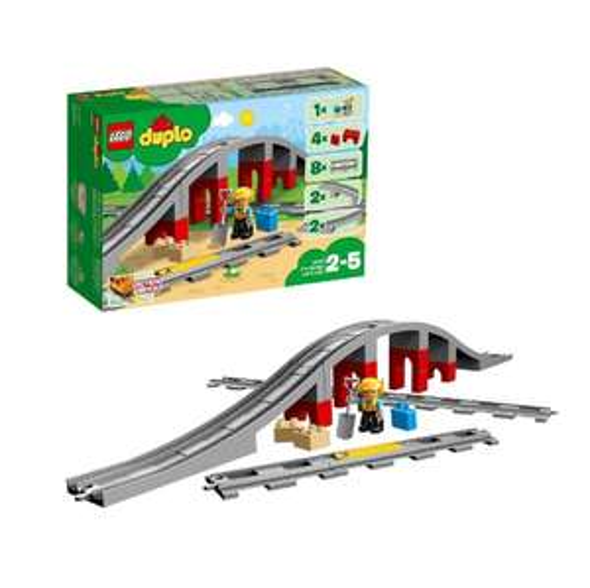Amazon Prime Lego Duplo 10872 Eisenbahnbrücke Schienen