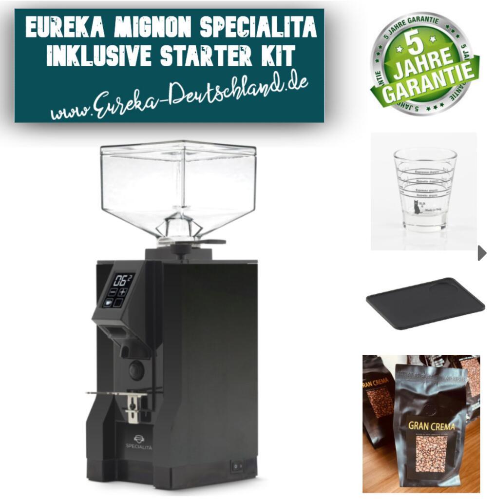 Eureka New Mignon SPECIALITA Espressomühle * Inklusive Starter Kit + 5 Jahre Garantie * schwarz 15BL