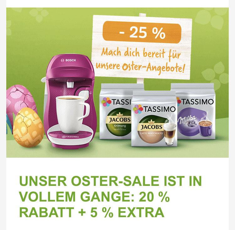 [Tassimo Online]25% auf alle Kapseln zu Ostern