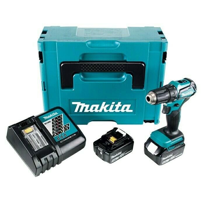Makita Akku-Bohrschrauber DDF482RFJ, 18V, inkl. 2 Akkus und Ladegerät, Bauhaus TPG