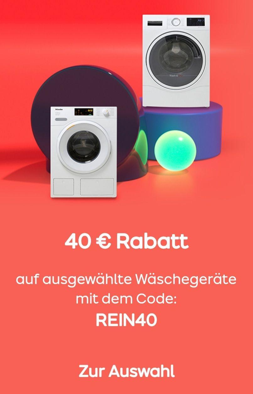 ao 40 Euro Rabatt auf ausgewählte Wäscheprodukte mit dem Code: REIN40 bis 07.04 um 12 Uhr PAYBACK aktivieren