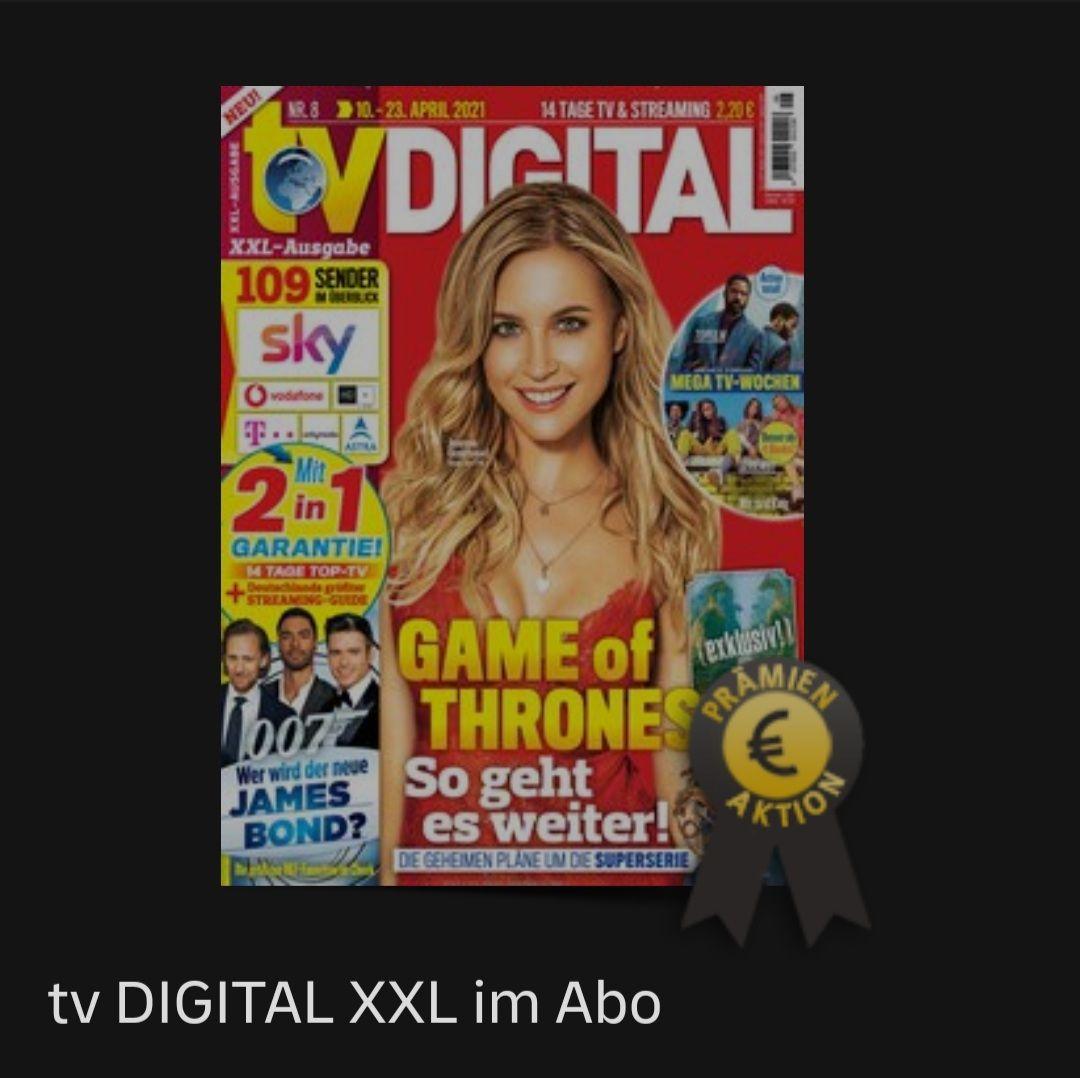 DP Leserservice - TV Digital XXL 14 Monate. Prämien: 60€ Otto, 55€ BestChoice Gutschein oder 50€ Geldprämie
