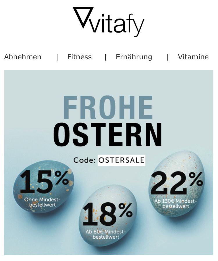 [Vitafy] Bis zu 22% Rabatt auf fast alles