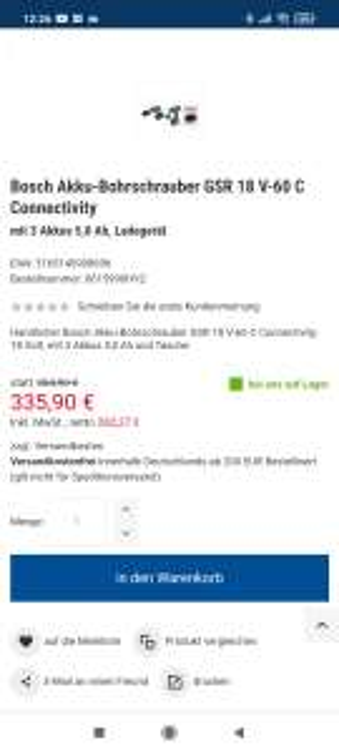 Bosch GSR 18V-60 C + viel Zubehör
