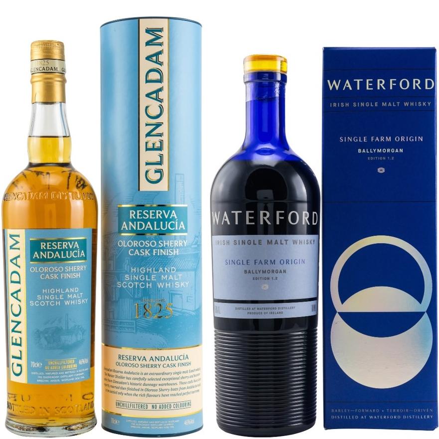 Whisky-Übersicht #83: z.B. Glencadam Reserva Andalucía Oloroso Finish für 33,90€, Waterford Ballymorgan Edition 1.2 für 58,45€ inkl. Versand