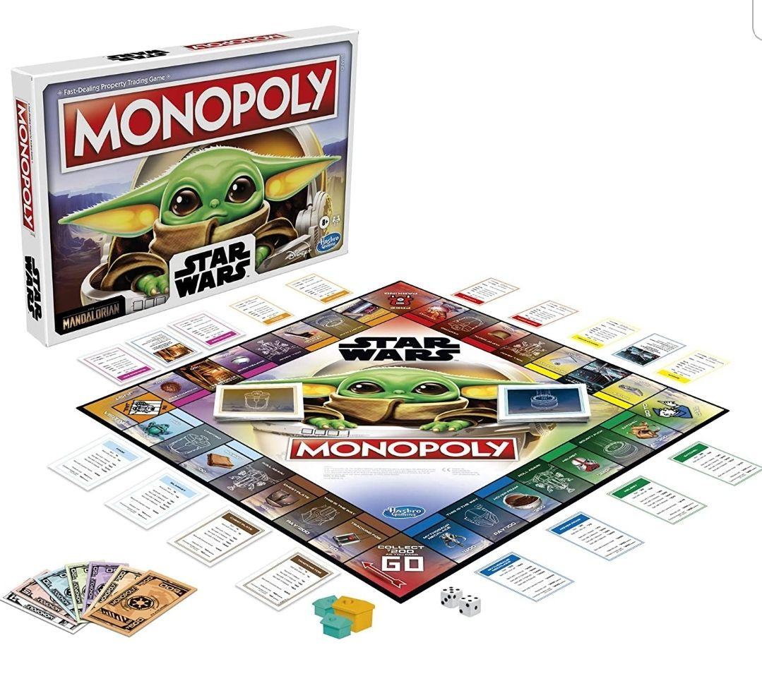 Monopoly: Englische Version: Star Wars Das Brettspiel der Child Edition für Familien und Kinder ab 8 Jahren[Prime]