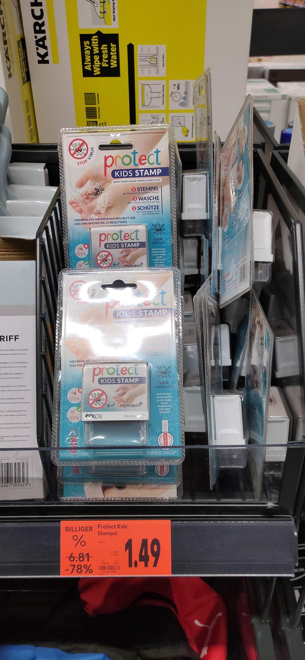 [lokal Aalen] Kaufland Industriegebiet Protect Kids Stamp Kinder-Hygiene Stempel