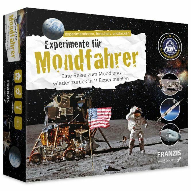 Experimentierkästen-Sammeldeal, z.B. Franzis Experimente für Mondfahrer, Reise zum Mond mit 11 Experimenten, [Rofu-Abholung]
