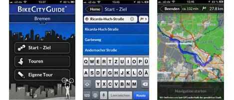 Bremen Karte für BikeCityGuide kostenlos downloaden