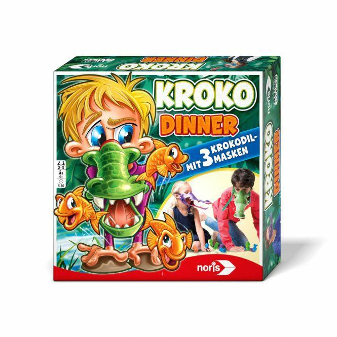 Kinder-Gesellschaftsspiele-Sammeldeal, z.B. Noris Kroko Dinner - Achtung, fertig, mampf! 2-3 Spieler, ab 4 J.