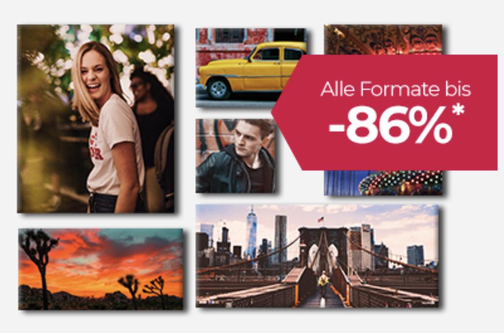 Dein Foto auf Leinwand jetzt schon ab 4€ + Versandkosten