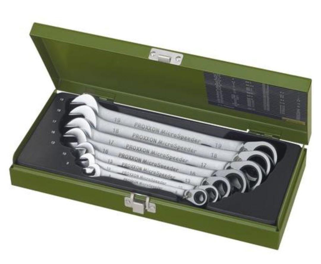 Proxxon Industrial 23124 MicroSpeeder Ring-Maulschlüssel-Satz 7teilig 8 - 19mm Kostenloser Versand...