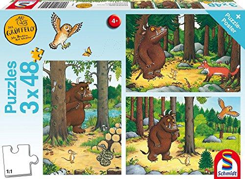 Wer hat Angst vom Grüffelo, 3 x 48 Teile Kinderpuzzle