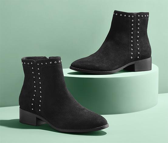 Tchibo onlineshop: Damen Veloursleder Boots , Größe 38 bis 41 verfügbar in schwarz