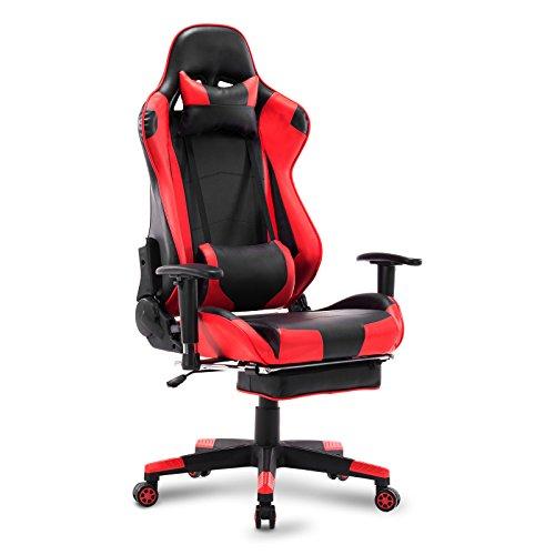 Woltu Gaming Chair Racing-Design in Rot, Kunstleder, vielfach verstellbar für 140,14€ @Amazon-Marketplace