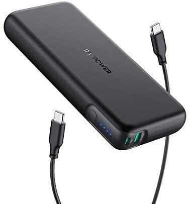 [Amazon] RAVPower PD 60W Powerbank USB C Power Delivery 20000mAh Quick Charge 3.0 Powerbank mit Type C Kabel