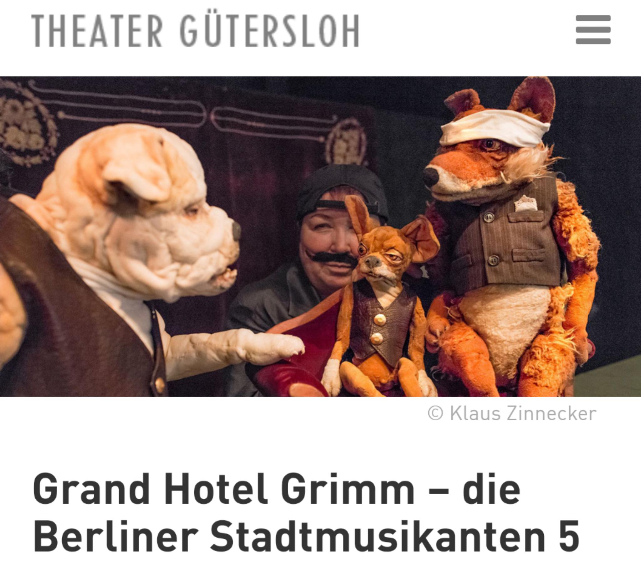 Gratis Theater Stream: Grand Hotel Grimm – die Berliner Stadtmusikanten 5