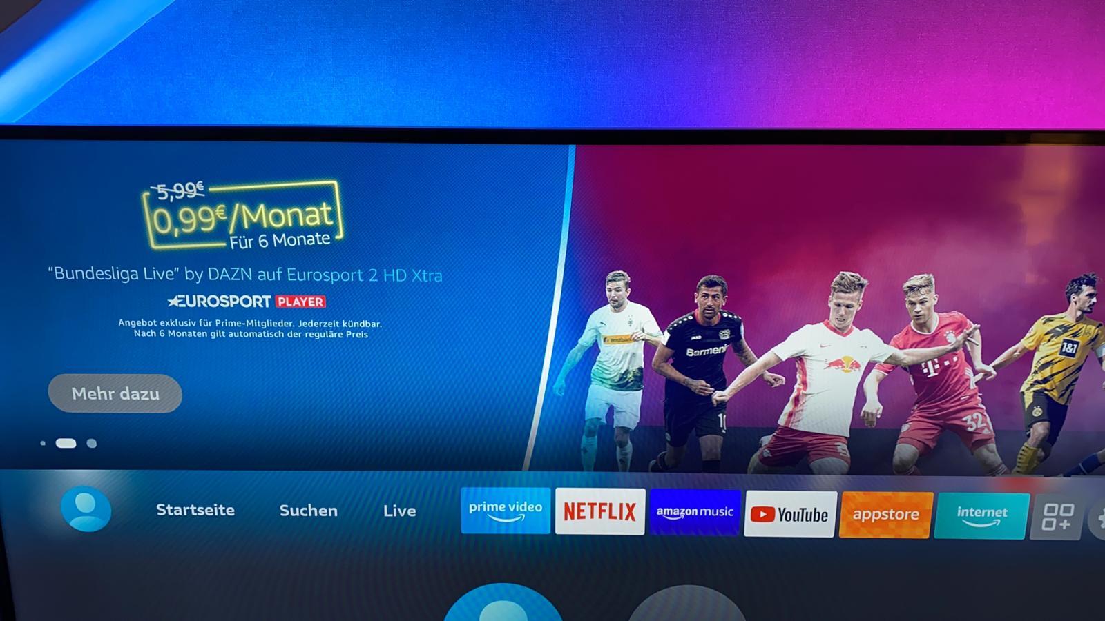 "[Amazon] Eurosport Player Channel – ""Bundesliga LIVE"" by DAZN auf Eurosport 2 HD Xtra"