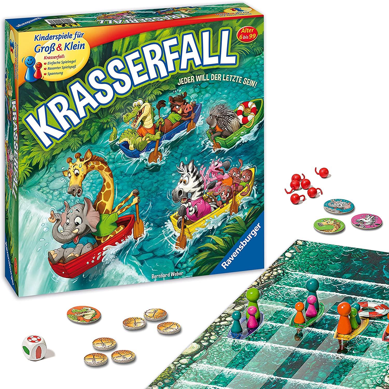 [Prime] Ravensburger 20569 Krasserfall, rasantes Brettspiel Gesellschaftsspiel für Familien und Kinder, für 2 - 4 Spieler, ab 6 Jahren