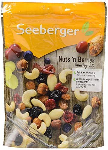 Seeberger verschiedene Sorten je 5/12 Packungen, z.B. Nuts'n Berries 12x150g für 23,99 (Sparabo 20,39)